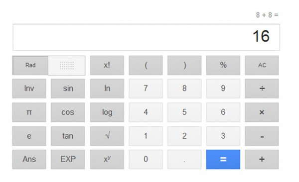 Η Google Προσθέτει Νέα Αριθμομηχανή